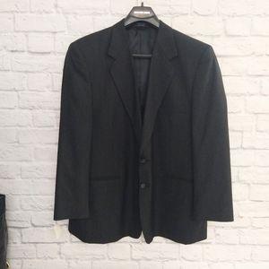 Jeffrey Banks black wool stripped blazer